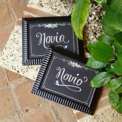 Chalkboard Novio Novia