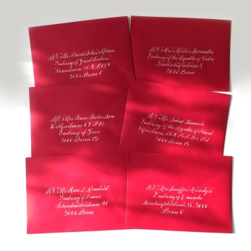 mailing christmas cards has become a chance to try new styles of writing and laying out text here are some of the recent ones ive sent - Mailing Christmas Cards