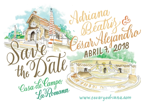 Save the Date Adriana y Cesar